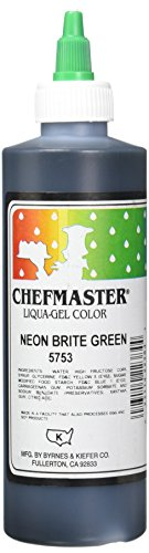 Chefmaster Liqua-Gel Food Color, 10.5-Ounce, Neon Brite Green by Chefmaster