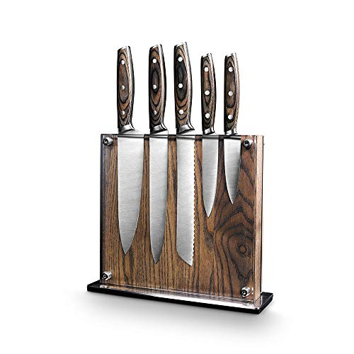 Steel Cutlery With Wooden Holder - Art & Cook Elite 6PC Magnetic Knife Block Set by Ar+cook (Image #5)