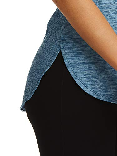 Reebok Women's Legend Performance Top Short Sleeve T-Shirt - Dark Blue Heather, X-Small by Reebok (Image #3)