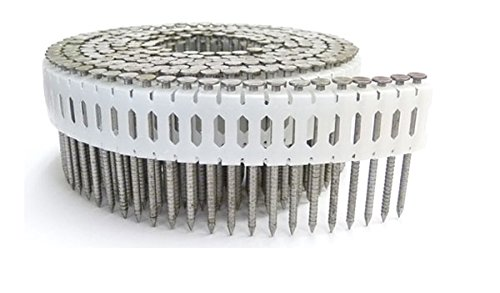 1 7/8'' x .086 RING 304 STAINLESS COIL NAILS 0 DEGREE PLASTIC 3.6M Box by FastenerUSA