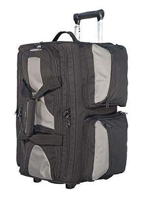 Elite Survival Systems Range Roller, Rolling Range Bag, Black/Gray - 21x13x11in 9010-B by Elite Survival Systems
