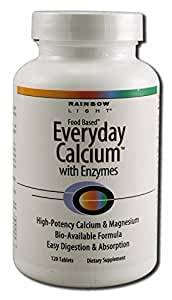 Rainbow Light Everyday Calcium with Enzyme Tablet - 120 per pack -- 3 packs per case.