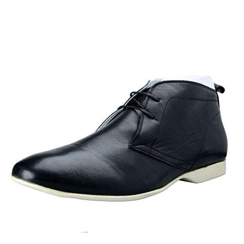 Versace Collection Mens Cuir Noir Lacets Bottines Chaussures Noir
