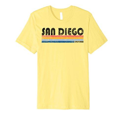 Mens Premium Vintage 1980s Style San Diego CA T Shirt Medium - Style San Diego Men's