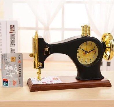 Máquina de coser Despertador de Sobremesa Reloj Estilo Antiguo Decoración escolar escritorios y creativas Despertador Dormitorio