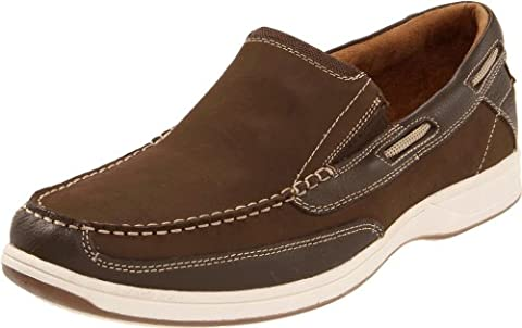Florsheim Men's Lakeside Slip Boat Shoe, Brown, 14 M US - Classic Moc Slip