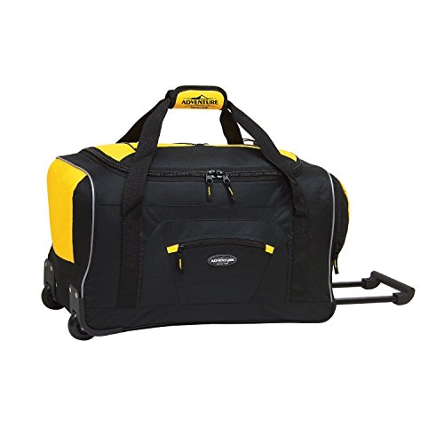 Travelers Club Luggage Adventure Rolling Duffel, 22 Inch, Yellow