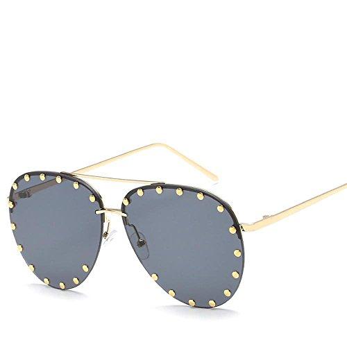 Aoligei Métal haute définition lunettes de soleil européen et américain mâle Lady général lunettes de soleil shing Fashion Rivet eWYjxmwCF4