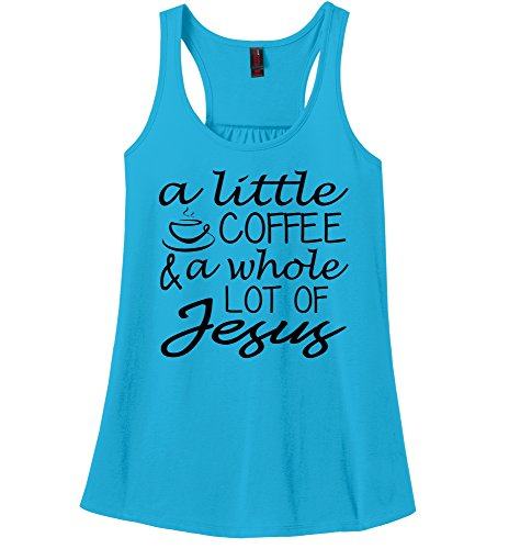 Comical-Shirt-Ladies-A-Little-Coffee-Lot-Jesus-Cute-Christian-Gift-Tee-Racerback