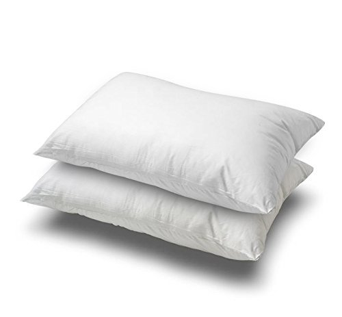Continental Bedding White Goose Feather and Down Pillow, Set of 2 (Standard)