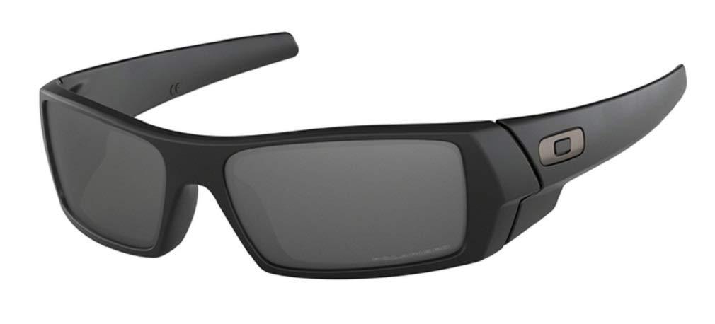 Oakley Gascan OO9014 12-856 61M Matte Black/Black Iridium Polarized Sunglasses For Men +BUNDLE with Oakley Accessory Leash Kit by Oakley