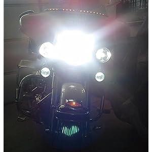 Motorcycle LED Bulb Headlight H4 Harley, Road King, Electra Glide, Ultra Classic, Softail, Dyna, Heritage, Deluxe, Fat Boy, Sportster, Honda, Yamaha, Suzuki, Kawasaki,