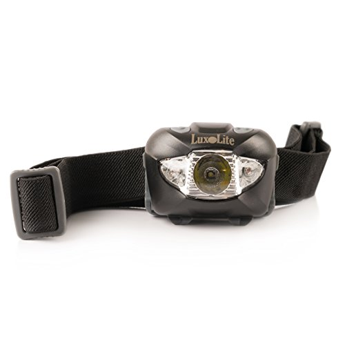 LED Headlamp Flashlight with Red Led Light - Brightest Headlight for Camping Hiking Running Fishing Hunting Walking Reading - Waterproof Headlamps - Best Work Head Lamp Light FREE Duracell - Flash Around Lens