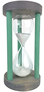 Cray Cray Supply Sleek Circle Gray Hourglass with Green Spindles