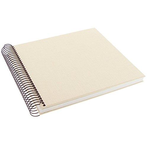 Goldbuch Spiralalbum, 20x20 cm, 40 Seiten chamois, Linum, Beige, 12931