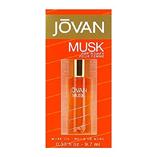 Jovan Musk By Jovan For Women Perfume Oil 0.33 Ounce, Classic Sensual Musk for Women Notes of Jasmine and ()