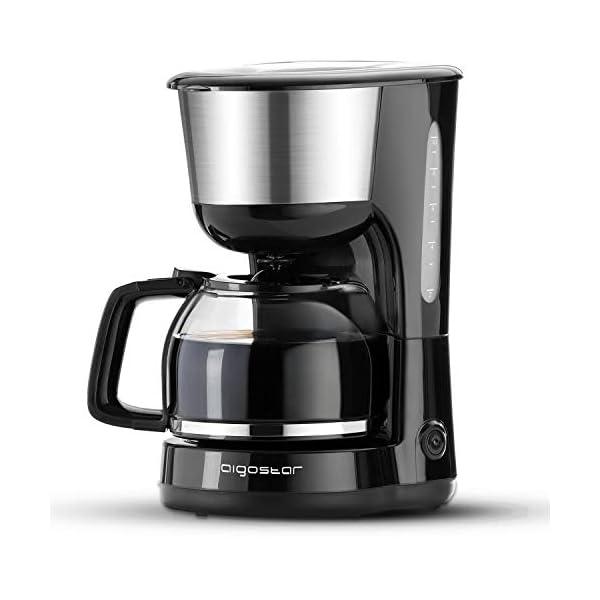 Aigostar Chocolate 30HIK - Macchina per caffe' 10 Tazze, Macchina Caffè Americano 1000 Watts, Caffettiera, Firltro… 1