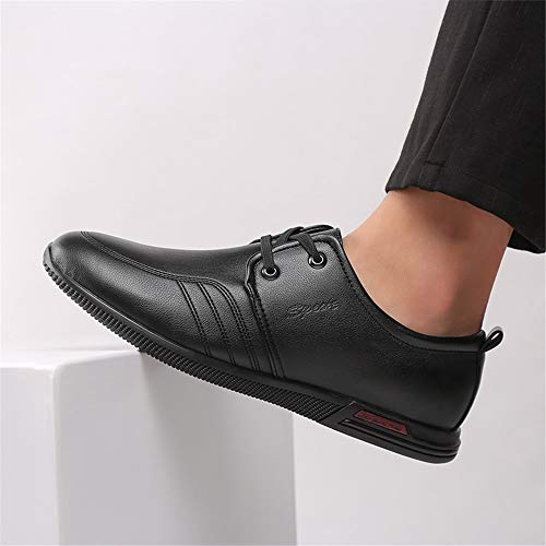 piatte da casual Derby Colore Stringate Sport EU Sneakers nere 41 suola Morbida Dimensione Nero Scarpe uomo Qiusa Nero Outdoor Ew51zz