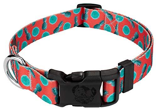 Country Brook Petz - Deluxe Tropical Tango Dog Collar - Medium