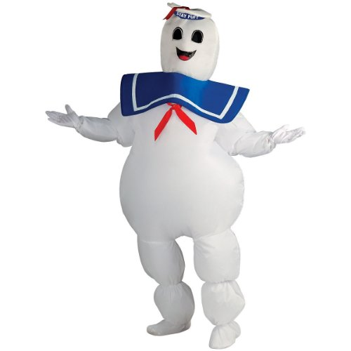 Two Man Costume (Rubie's Ghostbusters Inflatable Stay Puft Marshmallow Man Costume, White, Standard)