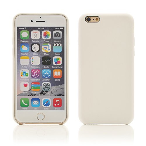 iProtect Rubberised Plain Color Design Matte Phone Cases - Silicone Protective Bumper Case for Apple iPhone 6 and 6s (4.7 Inch) in (Matte Silicone)