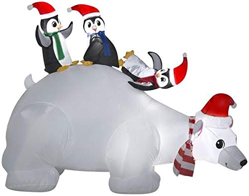 Gemmy 6' Airblown Polar Bear Family Scene Christmas Inflatable - Gemmy Airblown Inflatable