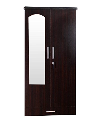 Furnitures Super Delux Two Door Wardrobe with Mirror