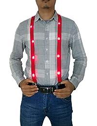 LED Suspenders AdjustableY Shape Novelty Suspender/Great for men and women alike