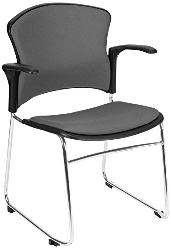 OFM Multi-Use Stack Arm Chair with Fabric Seat, Back and Gray