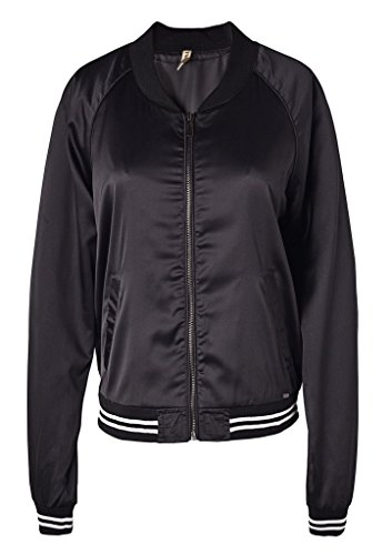 [Wantdo Women's Classic Bomber Flight Zipper Jacket(Black,Medium)] (Pirate Coat For Sale)