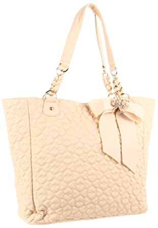 Betsey Johnson BH55815 Tote,Ivory,One Size