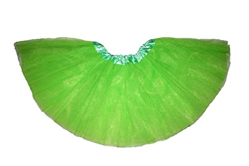Mystiqueshapes Girls Ballet Tutu Neon Lime Green