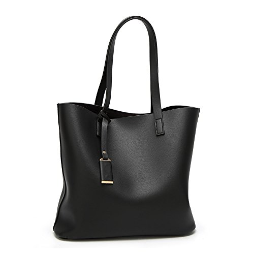 Lady Women Light Weight Pu Leather Large Tote Handbag Open Top Purse Shoulder Diaper Bags
