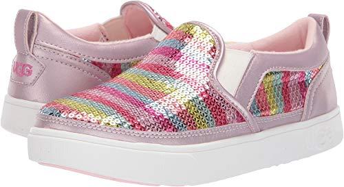UGG Girls' K CAPLAN Mural Slip-ON Sneaker Rainbow 3 M US Little Kid -