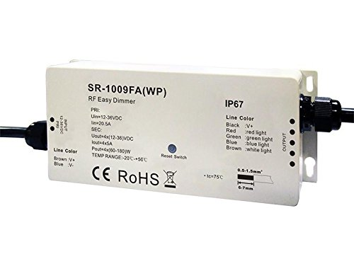 Waterproof RF RGBW LED Controller W4S-1009FAWP by W4S Controllers