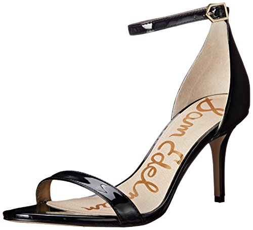 Sam Edelman Women's Patti Dress Sandal, Black Patent, 9 M US