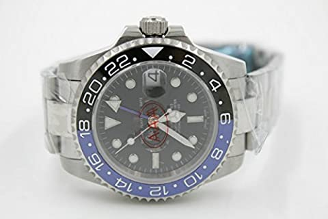 Luxury Top Brand best Automatic (mechanical) silver color stainless steel watch (Rolex Color)