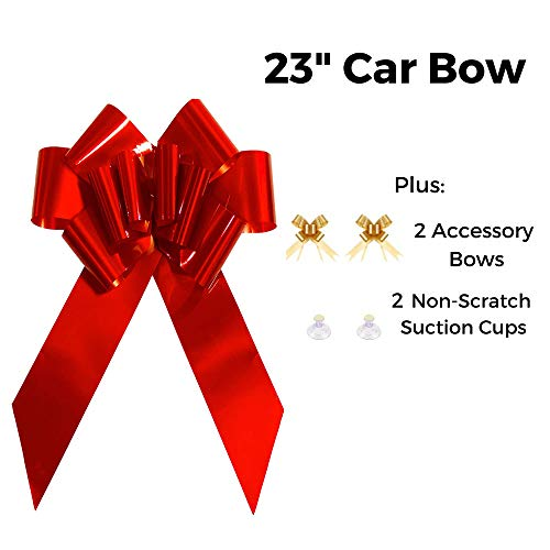HONGJUYUAN Big Red Car Gift Wrapping Large Bow High Quality Easy Pull BowPerfect