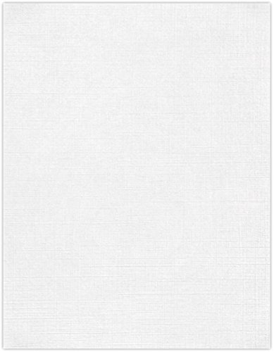 8 1/2 x 11 Cardstock - White Linen (50 Qty) | Perfect for Printing, Copying, Crafting, various Business needs and so much more! | 81211-C-90-50