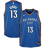 Nike Youth Paul George Oklahoma City Thunder Icon Edition Jersey - Blue (Gold, Youth Small (8))