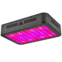 LED Grow Light, Dimgogo 1000W 100LEDs Triple Chips Full Spectrum Growing Lamp with UV&IR for Garden Greenhouse Hydroponic Indoor Plants Veg and Flower Black(10W/Led)