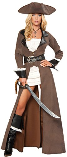 [Deluxe Pirate Captain Adult Costume - Large] (Full Pirate Costumes)