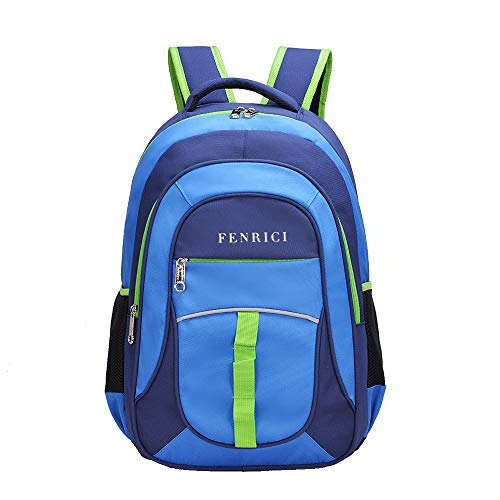 Kids Backpack for Boys, Girls by Fenrici, 18 inch Durable Book Bags for Elementary, Middle School Students, A Gift That Gives Back (PERSEVERANCE, M)