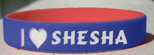 I Love Shesha personalized wristband (first name/surname/nickname)