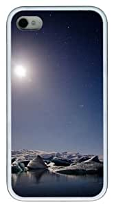 Iceland Moon pc White Case for iphone 4S/4