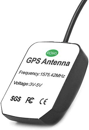 Waterproof Vehicle GPS Active Antenna 28db LNA Gain, GPS Navigation Fakra C Interface Compatible with Ford Dodge RAM GM Chevy Chevrolet GMC Cadillac BMW Audi Mercedes Benz Car Truck SUV Head Unit