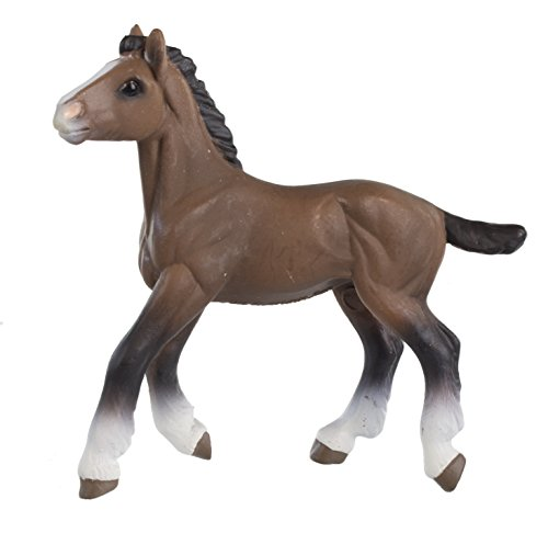 Safari Ltd Winner's Circle Collectibles - Clydesdale Foal - Educational Hand Painted Figurine - Quality Construction from Safe and BPA Free Materials - For Ages 3 and Up