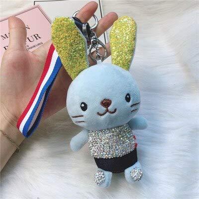 YPT - Llavero, diseño de conejo de peluche con lentejuelas ...
