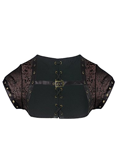 Burvogue Women's Steampunk Brocade Jacket Costume Accessory (Large,