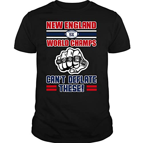 Los Angeles Rams Football, New England Patriots T Shirt, 5X World Champs Can't Deflate These T Shirt Unisex ()